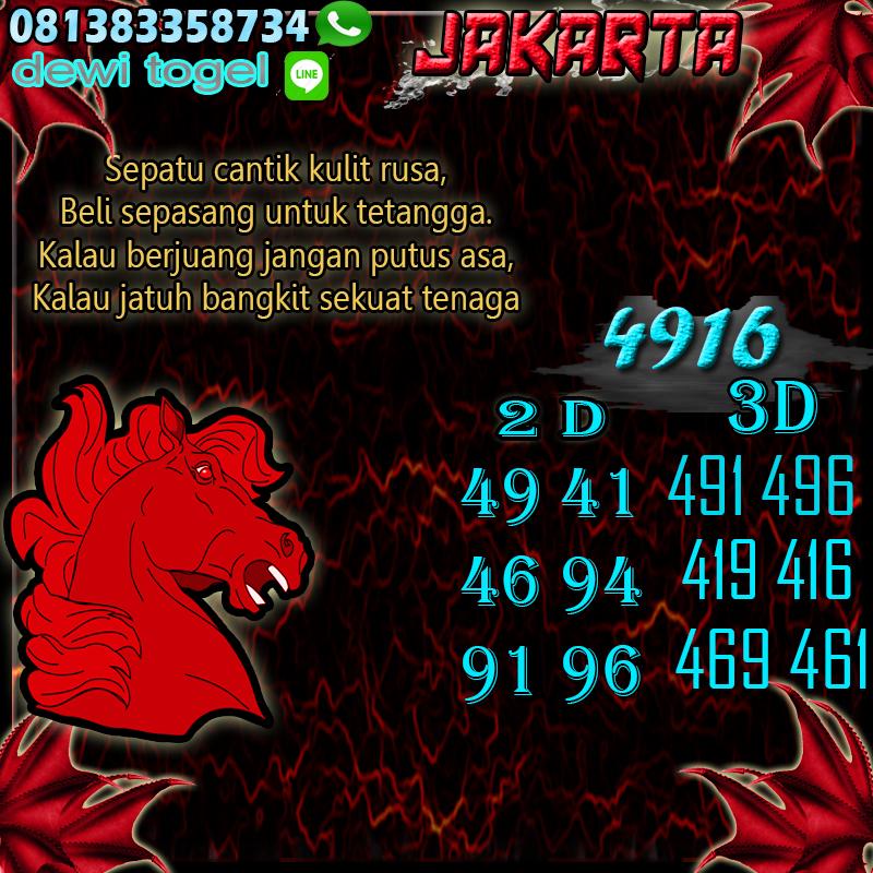 PREDIKSI JITU JAKARTA (JKT) 13 AGUSTUS 2020