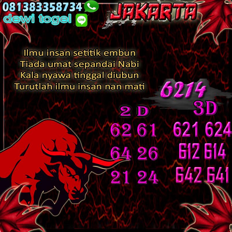 PREDIKSI JITU JAKARTA (JKT) 23 AGUSTUS 2020