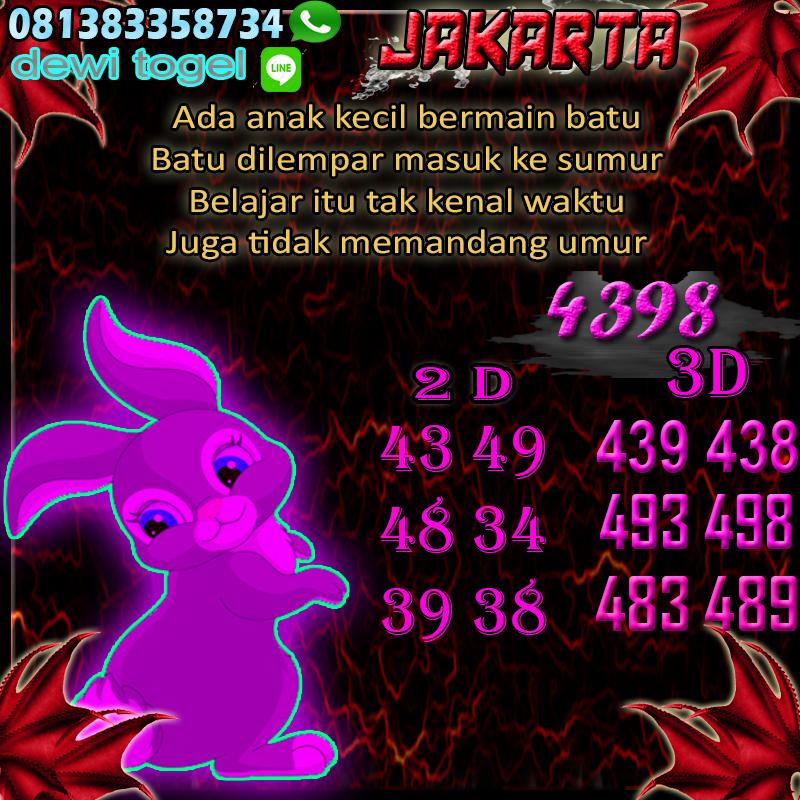 PREDIKSI JITU JAKARTA (JKT) 30 AGUSTUS 2020