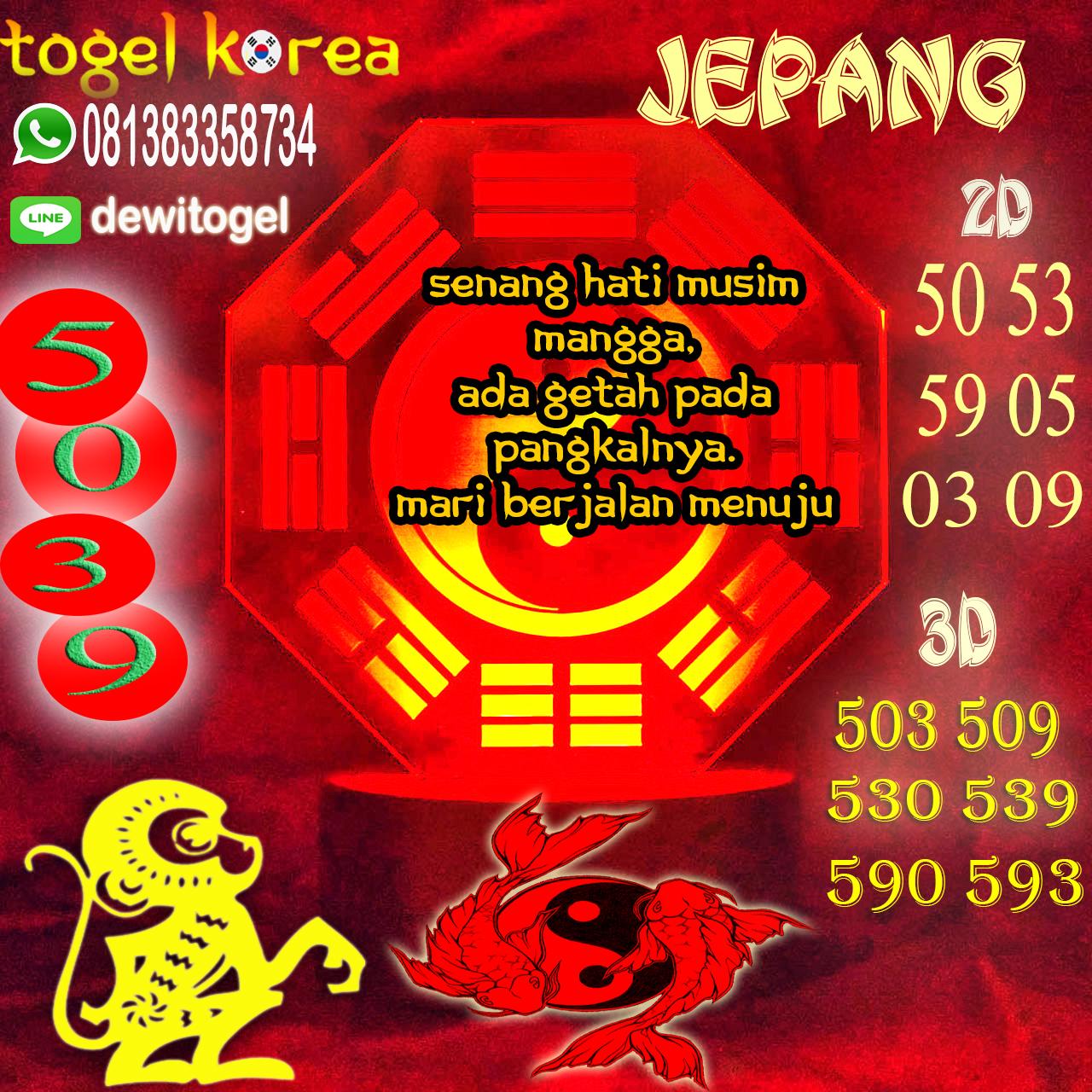 PREDIKSI JITU JEPANG (JPN) 09 AGUSTUS 2020