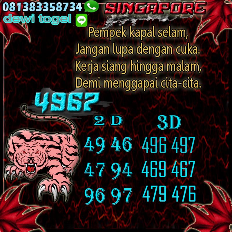 PREDIKSI JITU SINGAPORE (SG) 13 AGUSTUS 2020